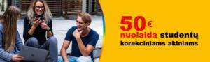 50 Eur nuolaida studentų korekciniams akiniams